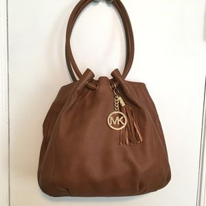 Michael Kors Large Tassel Shoulder Hobo Bag